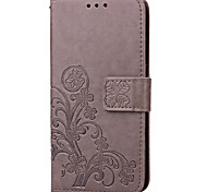 economico -telefono Custodia Per Samsung Galaxy Integrale Custodia in pelle Custodia flip Bordo S7 S7 Porta-carte di credito Con supporto Con chiusura magnetica Floreale Resistente pelle sintetica