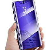 economico -telefono Custodia Per Samsung Galaxy Integrale Custodia in pelle Custodia flip S9 S9 Plus S8 Plus S8 Bordo S7 S7 S6 edge plus Bordo S6 S6 Con supporto A specchio Con chiusura magnetica Tinta unica