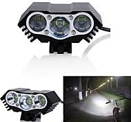 abordables -LED Eclairage de Velo Eclairage de Vélo Avant Phare Avant de Moto LED VTT Vélo tout terrain Vélo Cyclisme Imperméable Modes multiples Super brillant Grand angle 18650 3000 lm DC alimenté Cyclisme