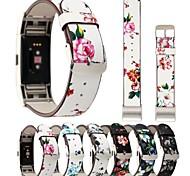 economico -Cinturino intelligente per Fitbit 1 pcs Cinturino di pelle Vera pelle Sostituzione Custodia con cinturino a strappo per Fitbit Charge 2