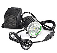 abordables -Lampes Frontales Phare Avant de Moto 6000 lm LED LED Émetteurs 1 Mode d'Eclairage Professionnel Etanche Poids Léger Camping / Randonnée / Spéléologie Cyclisme Chasse Noir