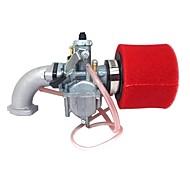 economico -rosso mikuni pz26 carburatore collettore olio filtro aria per lifan 125cc dirt pit bike atv vm2226mm