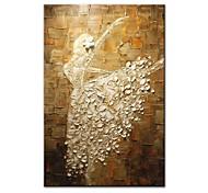 abordables -Peinture à l'huile Hang-peint Peint à la main Verticale Abstrait Personnage Contemporain Moderne Inclure cadre intérieur