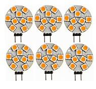 abordables -6pcs 1.5 W LED à Double Broches 270 lm G4 T 9 Perles LED SMD 5050 Décorative Blanc Chaud 12 V / CE