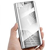 economico -telefono Custodia Per Samsung Galaxy Integrale Custodia in pelle Custodia flip Nota 8 Nota 5 Con supporto A specchio Con chiusura magnetica Tinta unica Resistente pelle sintetica