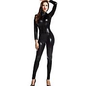 abordables -Costumes zentai brillants Combinaison-pantalon Costume de peau Fille de moto Adulte Spandex Latex Costumes de Cosplay Genre Homme Femme Couleur Pleine Halloween Mascarade / Costume Zentai