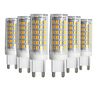 abordables -6pcs G9 9W 76LED 2835smd lampe de maïs blanc chaud blanc froid naturel blanc LED céramique lampe AC 220V AC110V