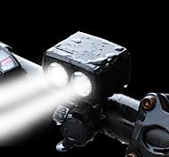 abordables -LED Eclairage de Velo Eclairage de Vélo Avant Phare Avant de Moto LED Vélo Cyclisme Imperméable Conçu spécial Modes multiples Super brillant Lithium-ion polymère 1800 lm Rechargeable Batterie Li