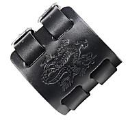 abordables -Bracelets en cuir Homme Cuir Dragon Roche Steampunk Bracelet Bijoux Noir Marron pour Plein Air Soirée