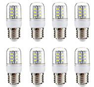 abordables -8 pièces 3 W Ampoules Maïs LED 270 lm E14 E26 / E27 24 Perles LED SMD 5730 Blanc Chaud Blanc 220-240 V