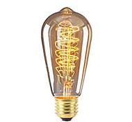 economico -1 pc 40 W 360 lm E26 / E27 ST64 Edison Bulb Perline LED SMD Oscurabile Decorativo Bianco caldo 220-240 V
