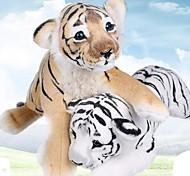 abordables -Coussin Jouet en peluche de simulation Poupées en peluche Animaux en Peluche Tiger Adorable Confortable 40cm Jeu imaginatif, bas, grands cadeaux d'anniversaire Party Favor Supplies Garçons et filles