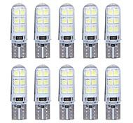 abordables -Feux de position latéraux T10 Ampoules électriques 80 lm SMD 2835 1 W 12 Pour Universel General Motors Toutes les Années 10 pièces