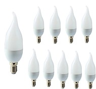 economico -10 pezzi 2 W Luci LED a candela 200 lm E14 C35L 10 Perline LED SMD 2835 Decorazione di nozze di Natale Bianco caldo Luce fredda 220-240 V