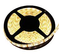 economico -5m Strisce luminose LED flessibili 300 LED 5050 SMD 10mm Bianco caldo Impermeabile Accorciabile Collagabile 12 V / IP65 / Auto-adesivo