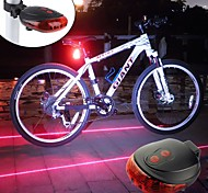 economico -Laser Luci bici Luce posteriore per bici luci di sicurezza LED Ciclismo da montagna Bicicletta Ciclismo Impermeabile Portatile Sveglia Avvertenze Batteria ricaricabile 300 lm Batterie alimentate