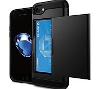 economico -telefono Custodia Per Apple Per retro iPhone X iPhone 8 Plus iPhone 8 iPhone 7 Plus iPhone 7 iPhone 6s Plus iPhone 6s iPhone 6 Plus iPhone 6 Porta-carte di credito Tinta unita Resistente PC