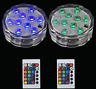 economico -luci decorative da immersione per esterni da 2 pz 10led rgb luci per esterni