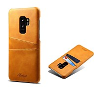 economico -telefono Custodia Per Samsung Galaxy Per retro S9 S9 Plus S8 Plus S8 Porta-carte di credito Tinta unita Resistente vera pelle