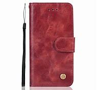 economico -telefono Custodia Per Samsung Galaxy Integrale J7 J7 (2016) J5 J5 (2016) J3 J3 (2016) A portafoglio Porta-carte di credito Con chiusura magnetica Tinta unita Resistente pelle sintetica