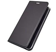 economico -telefono Custodia Per LG Integrale Custodia in pelle Custodia flip LG V30 LG V20 LG Q6 LG G6 Porta-carte di credito Con supporto Con chiusura magnetica Tinta unica Resistente pelle sintetica