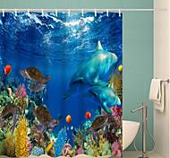 abordables -Salle de Bain Rideaux de douche et anneaux Classique Polyester Imperméable