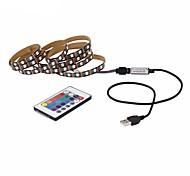 economico -ZDM® 1m Set luci Strisce luminose RGB Controlli remoti 30 LED 5050 SMD 10mm 1 telecomando da 24Keys 1 cavo CA. 1 set Colori primari Accorciabile Decorativo Auto-adesivo 5 V Alimentazione USB