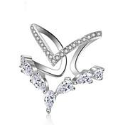 abordables -Anneau Alliance Bague Diamant Dorée Argent Cuivre dames Classique Mode Ajustable / Zircon / Bague de Phalange