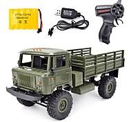 economico -Auto RC WPL B-24 GAZ-66 4 canali 2.4G Da strada / Furgone 1:16 Elettrico senza spazzola 10 km/h