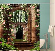 abordables -rideaux de douche multicolores avec crochets rideau de bain imprimé numérique imperméable en polyester contemporain