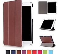 economico -telefono Custodia Per Samsung Galaxy Integrale Tab S2 8.0 Tab E 8.0 Tab A 8.0 (2017) Tab A 8.0 Con supporto Origami A calamita Tinta unita Resistente pelle sintetica