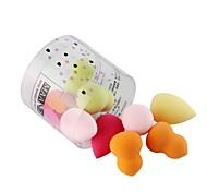 abordables -10 pcs Niveau professionnel Portable forme de goutte forme Gourd Set de maquillage Houppette Éponges de maquillage Beauté Accessoires de Maquillage Produits de Beauté Soins Personnels Pour Adulte