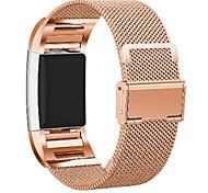 abordables -1 pc Bracelet de Montre  pour Fitbit Bracelet Milanais Acier Inoxydable Remplacement Sangle de Poignet pour Fitbit Charge 2