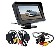 abordables -ziqiao 3 en 1 émetteur-récepteur sans fil kit voiture étanche sauvegarde caméras de recul avec 4.3 hd moniteur couleur auto parking