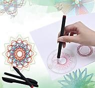 abordables -Jeu de Dessin Spirographe Thème classique Plastique souple Peinture Interaction parent-enfant Unisexe pour des cadeaux d'anniversaire ou des cadeaux