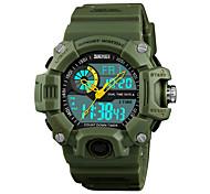 abordables -Montres pour hommes Montre de sport militaire multifonction S-Shock LED Montres d'alarme étanche numérique (petit, noir)