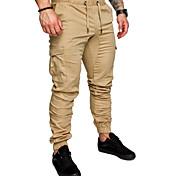 economico -Per uomo Essenziale Quotidiano Pantaloni della tuta Carico tattico Pantaloni Tinta unita Lunghezza intera A cordoncino Nero Cachi Verde Grigio scuro Blu marino