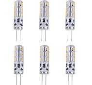 abordables -1w g4 bi-broche led ampoule lumière 24 smd 3014 rouge bleu vert atmosphère décorative éclairage dc 12v (6 pcs)