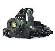 abordables -Lampes Frontales Eclairage sécurité / feu clignotant velo Phare Avant de Moto 5000 lm LED LED Émetteurs 1 Mode d'Eclairage Camping / Randonnée / Spéléologie Chasse Vert