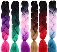 abordables -Crochet Hair Braids Jumbo Box Braids Cheveux Synthétiques Long Rajouts de Tresses 1 pc / paquet