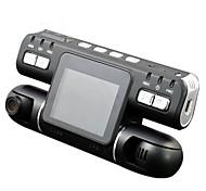 abordables -F105 1080p Vision nocturne / Surveillance à 360 ° / Lentille double DVR de voiture 120 Degrés Grand angle CMOS 2.7 pouce LCD Dash Cam avec Détection de Mouvement Non Enregistreur de voiture