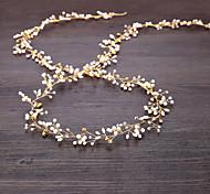 abordables -Imitation de perle / Fil de cuivre Bandeaux / Casque / Chaîne de tête avec Perle fausse / Détail Cristal 1pc Mariage Casque