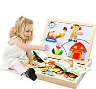 abordables -Puzzle Puzzles en bois Maquettes de Bois Dessin Animé Créatif En bois 95 pcs Enfant Préscolaire Jouet Cadeau