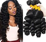 abordables -Lot de 3 Tissage de cheveux Cheveux Indiens Ondulé Extensions de cheveux Naturel humains Cheveux Naturel Rémy Paquets de 100% Remy Hair Weave 300 g Tissages de cheveux humains Extensions Naturelles