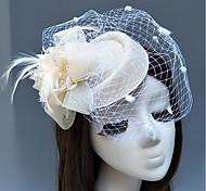 economico -Pelle / A rete fascinators / cappelli / Cappelli con Piume / Fantasia floreale 1 pc Matrimonio / Occasioni speciali / Corsa di cavalli Copricapo