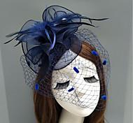 economico -Pelle / A rete fascinators / cappelli / Accessori per capelli con Piume / Fantasia floreale / Floreale 1pc Matrimonio / Occasioni speciali Copricapo