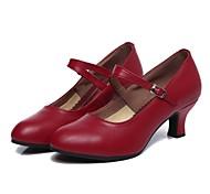 abordables -Femme Chaussures Modernes Salon Chaussures de Salsa Danse en ligne Talon Talon Personnalisé Noir Rouge Foncé