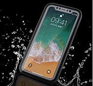 economico -Custodia Per Apple iPhone X / iPhone 8 Plus / iPhone 8 Impermeabile Integrale Tinta unita Morbido TPU