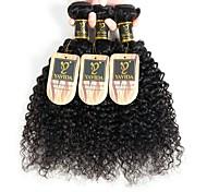 abordables -Lot de 3 Tissage de cheveux Cheveux Péruviens Bouclé Extensions de cheveux Naturel humains Cheveux Naturel Rémy Paquets de 100% Remy Hair Weave 300 g Tissages de cheveux humains Extensions Naturelles