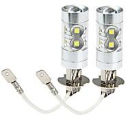 abordables -SENCART Moto / Automatique LED Feu Antibrouillard H3 Ampoules électriques 3100 lm LED SMD 50 W 10 Pour Universel Toutes les Années 2 pièces
